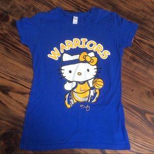 Hello kitty golden state warriors graphic tee